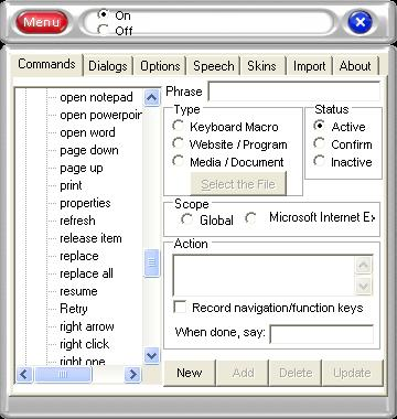Voice Recognition, speech recognition, voice, speech, commands, keyboard macro